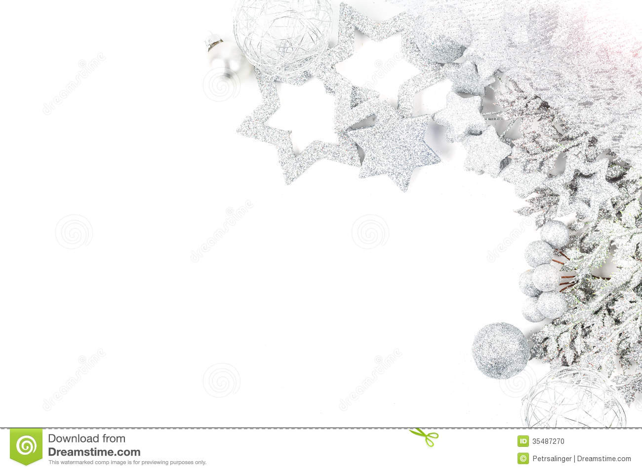 Silver christmas background stock photo image 35487270 - Silver and white christmas ...