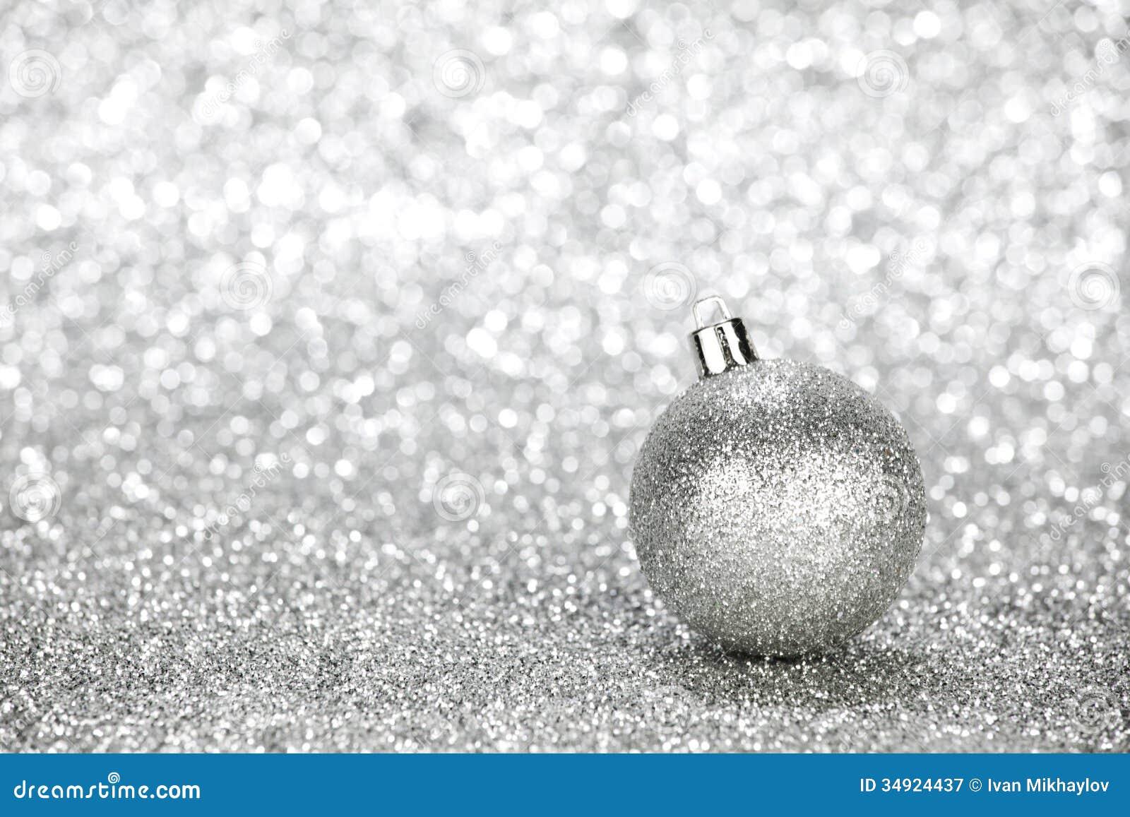 silver christmas ball stock image image of decor christmas 34924437