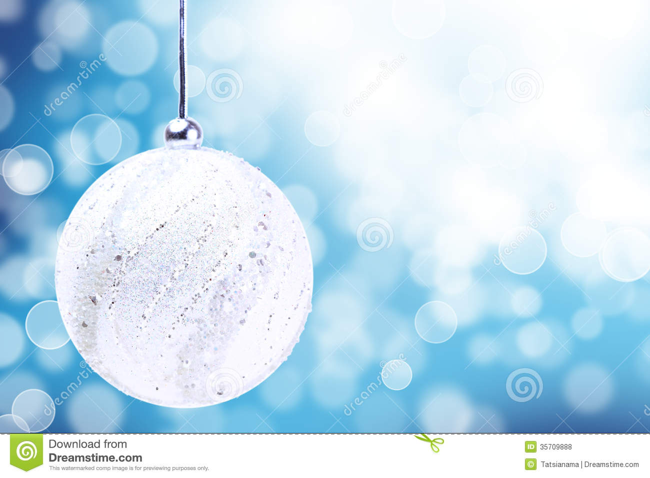 Silver Christmas Ball Ornament Over Elegant Grunge Blue Royalty ...