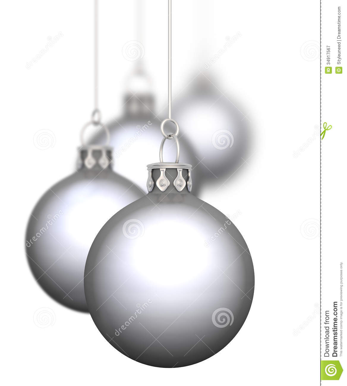 Silver christmas baubles royalty free stock photography for White christmas baubles