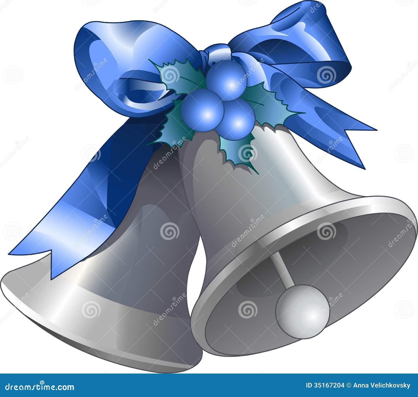 Silver christmas bells stock vector illustration of shiny