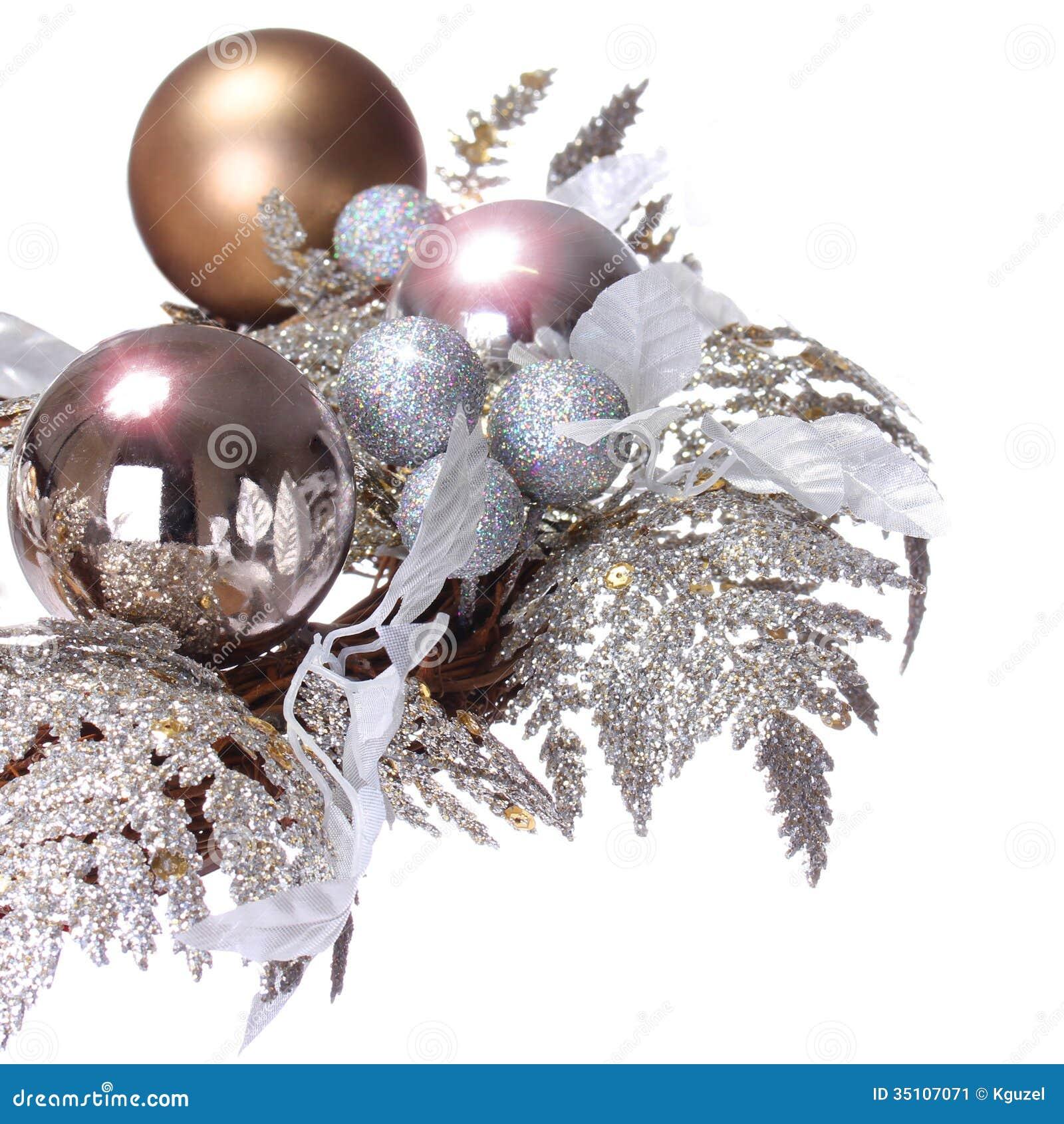 Christmas Decoration Closeup On Shiny Balls Christmas Decoration Stock Photo Image