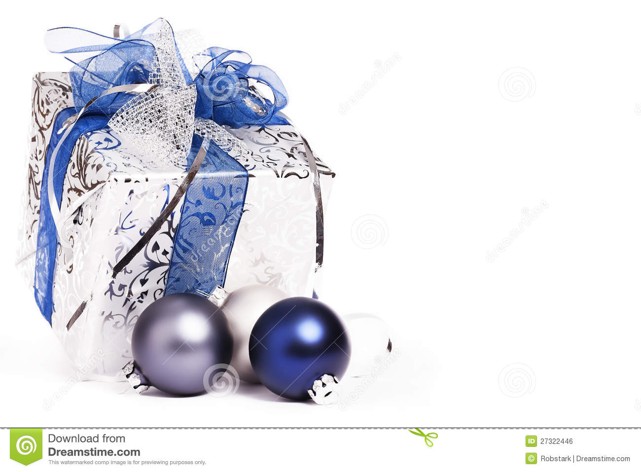 Blue Christmas Present Background