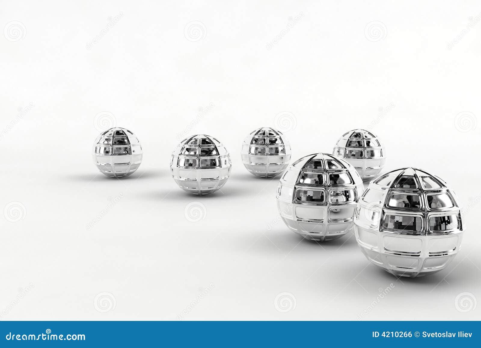 Silver chrome balls