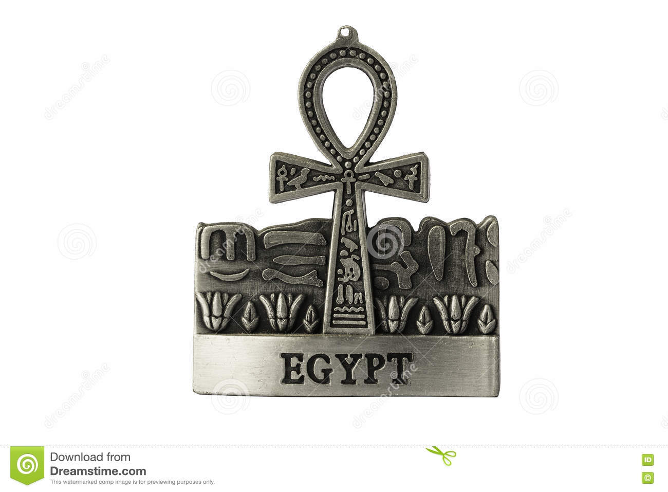 Silver colored egyptian symbol of life ankh with egypt label iso royalty free stock photo biocorpaavc Gallery