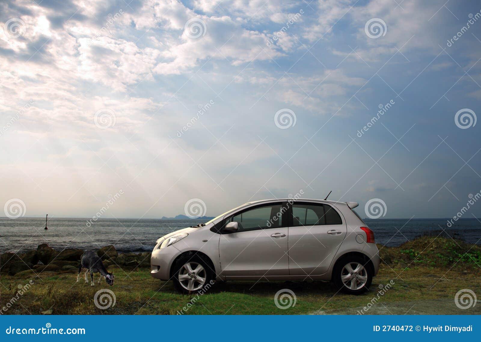 Silver Compact Car