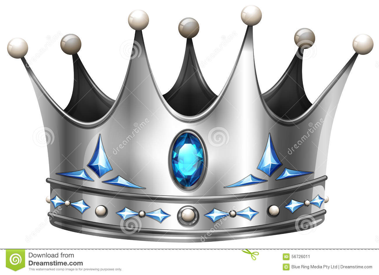 Silver Crown On White Stock Vector Image 56726011