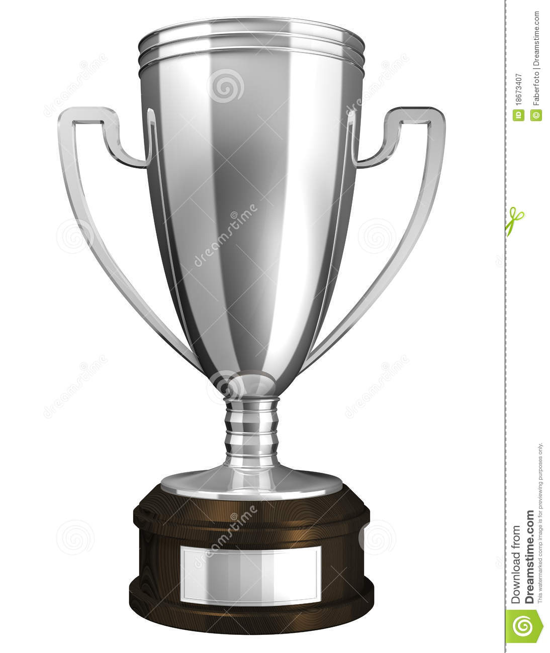 Silver Cup Award Stock Illustration Of Champ