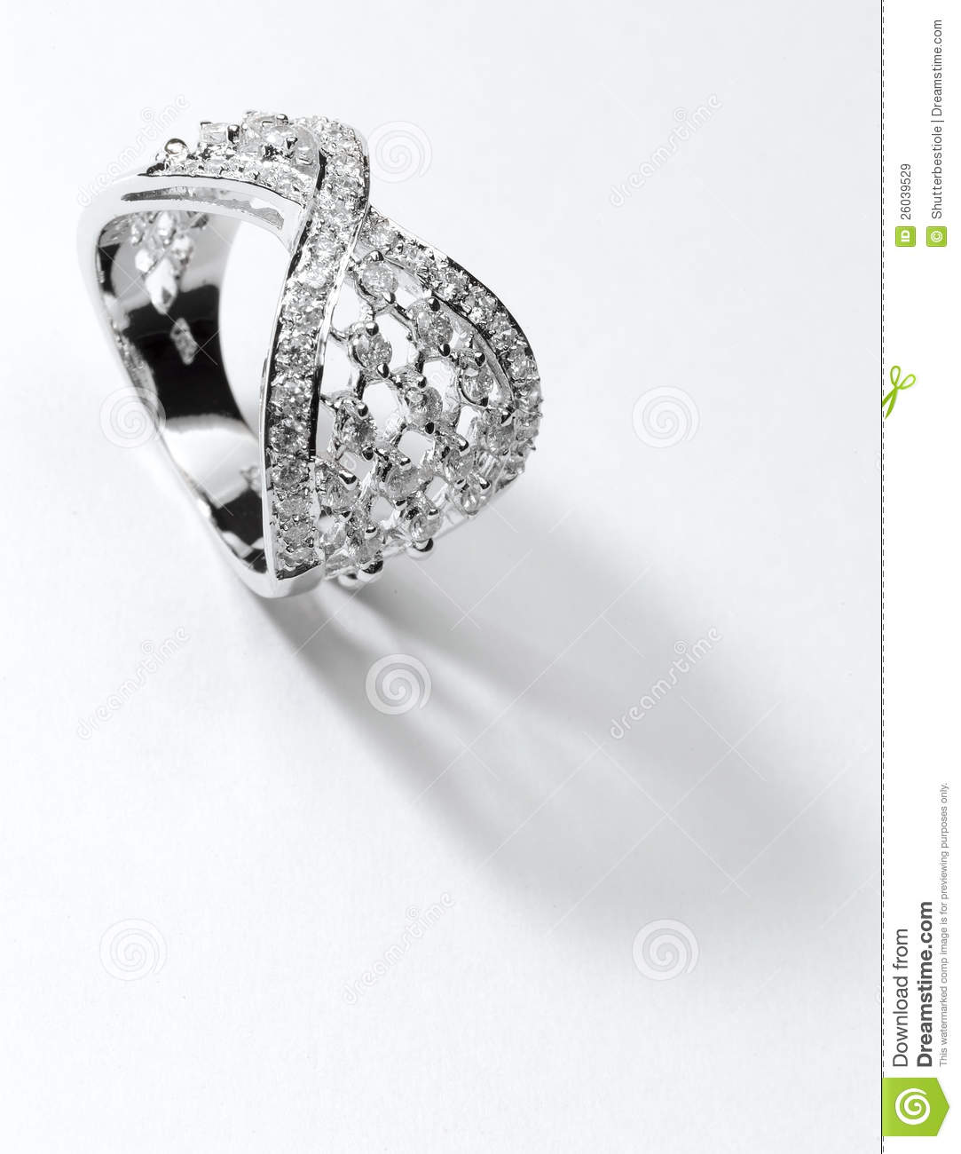 Silver Diamond Ring Royalty Free Stock Images Image