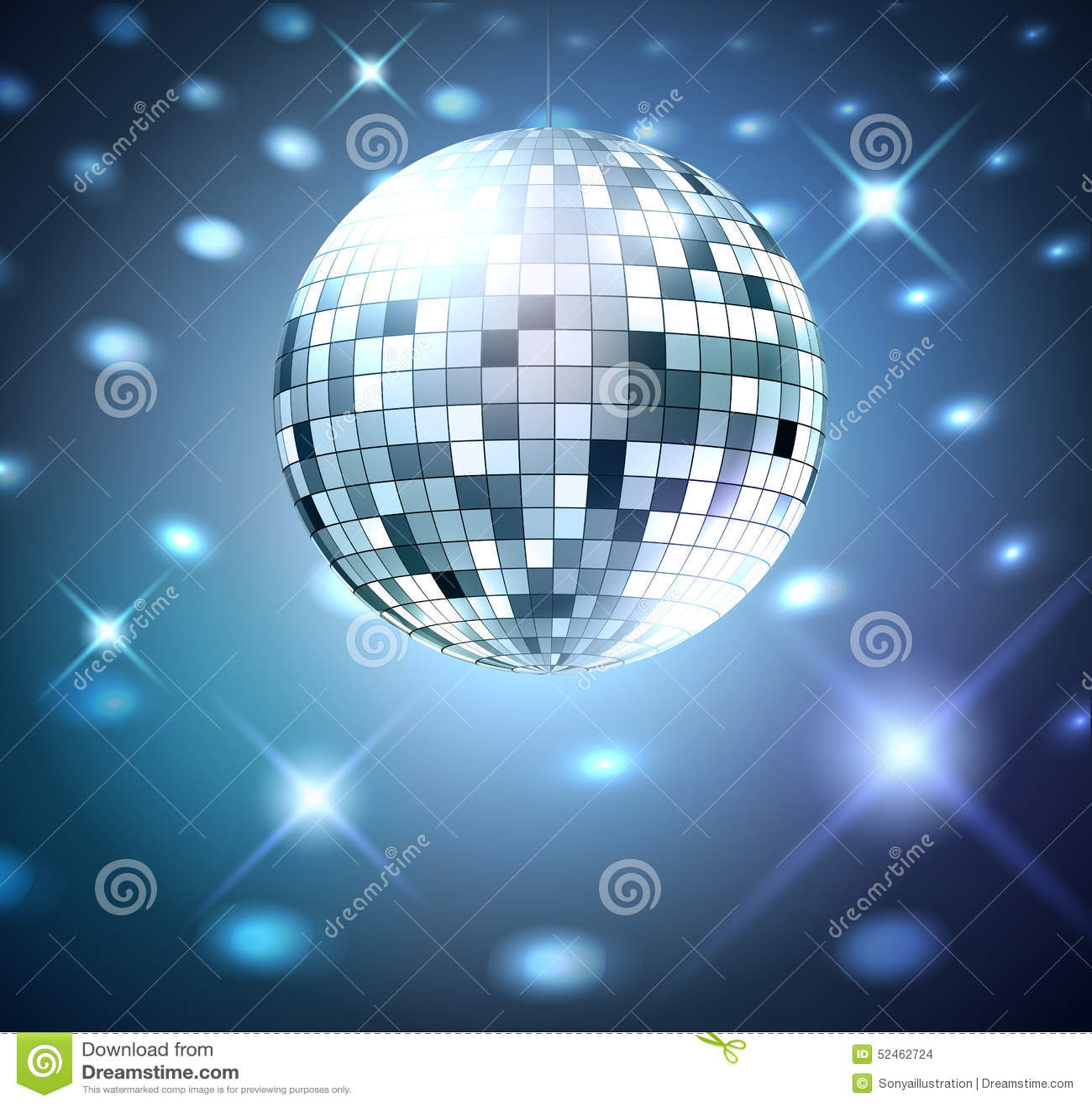 silver disco bal stock vector illustration of neon event 52462724