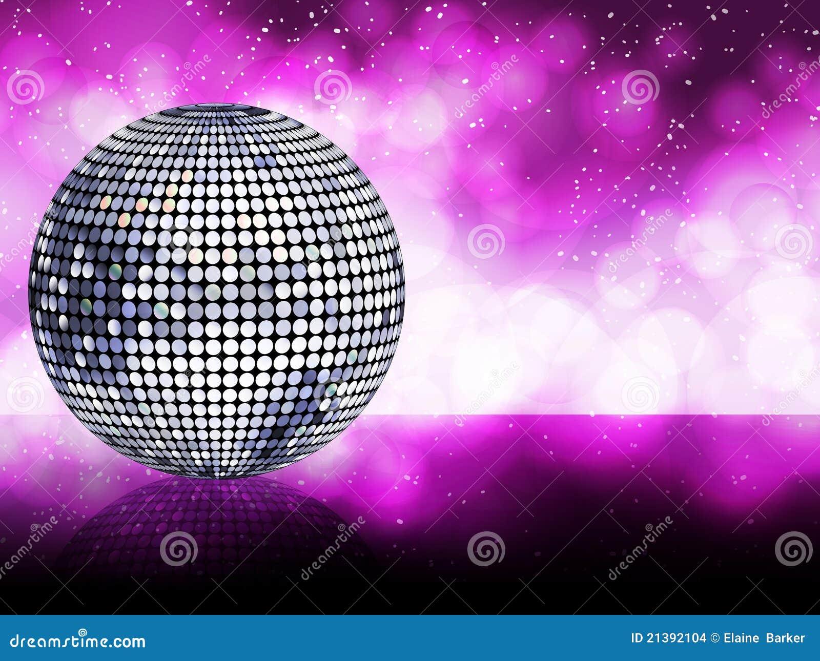 Silver Disco Ball Background Stock Vector Illustration