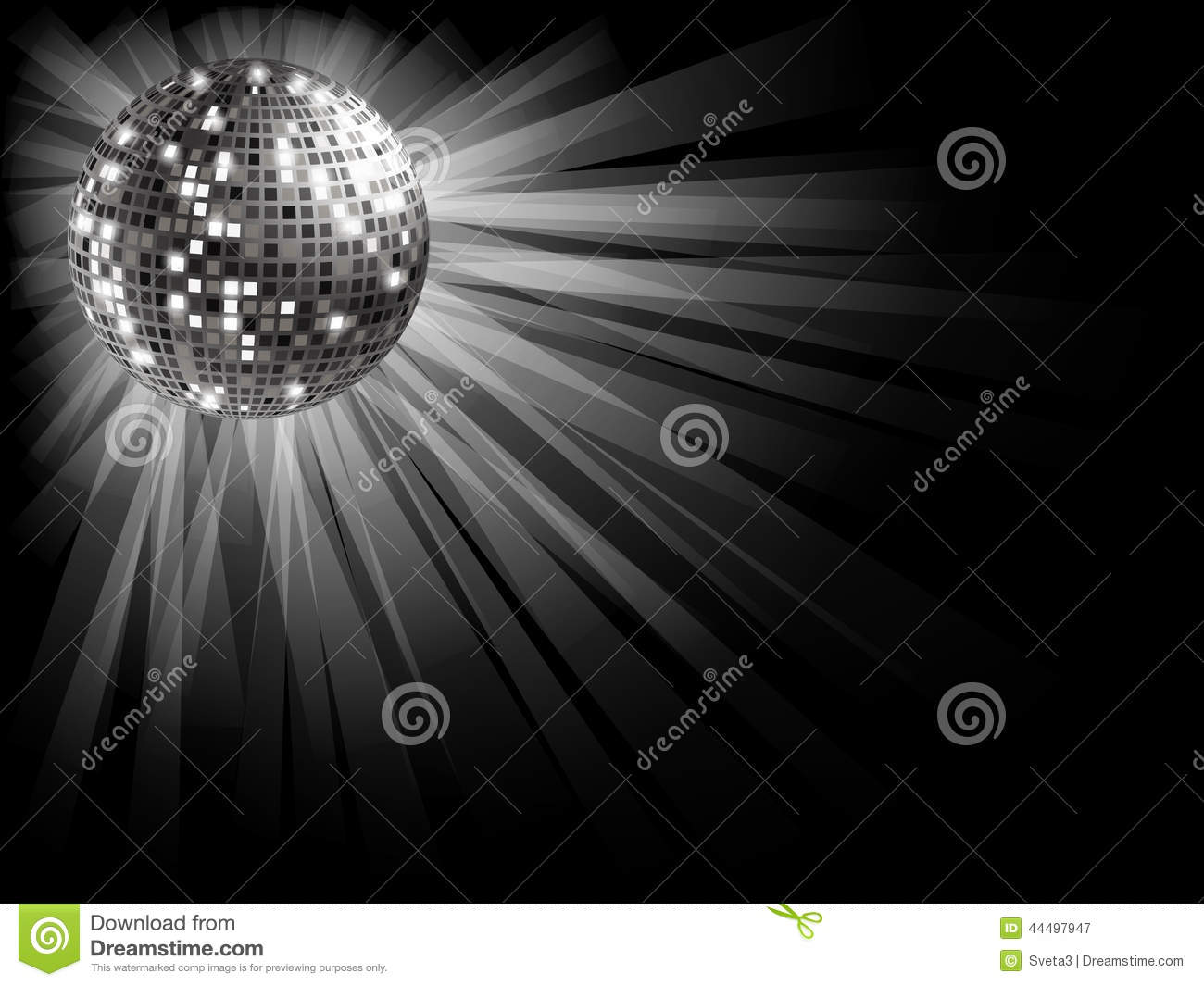 silver disco ball stock vector image 44497947