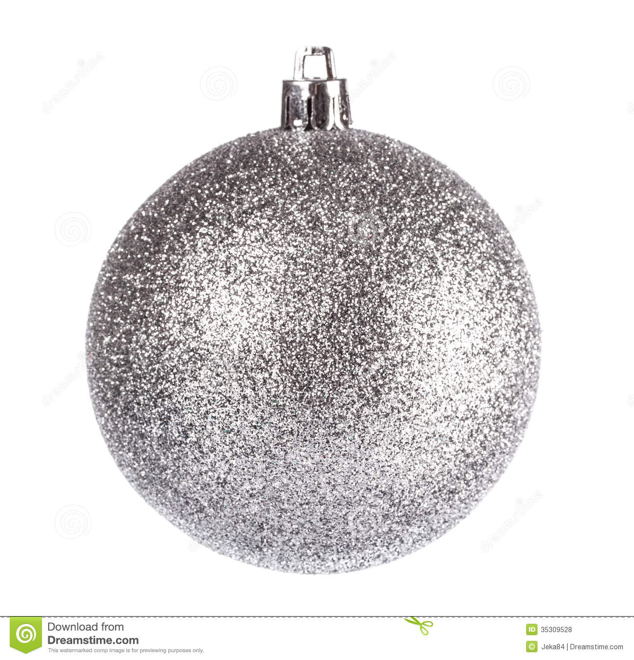 White Silver Ornament Silvers: Silver Dull Christmas Ball Stock Photo. Image Of Bell
