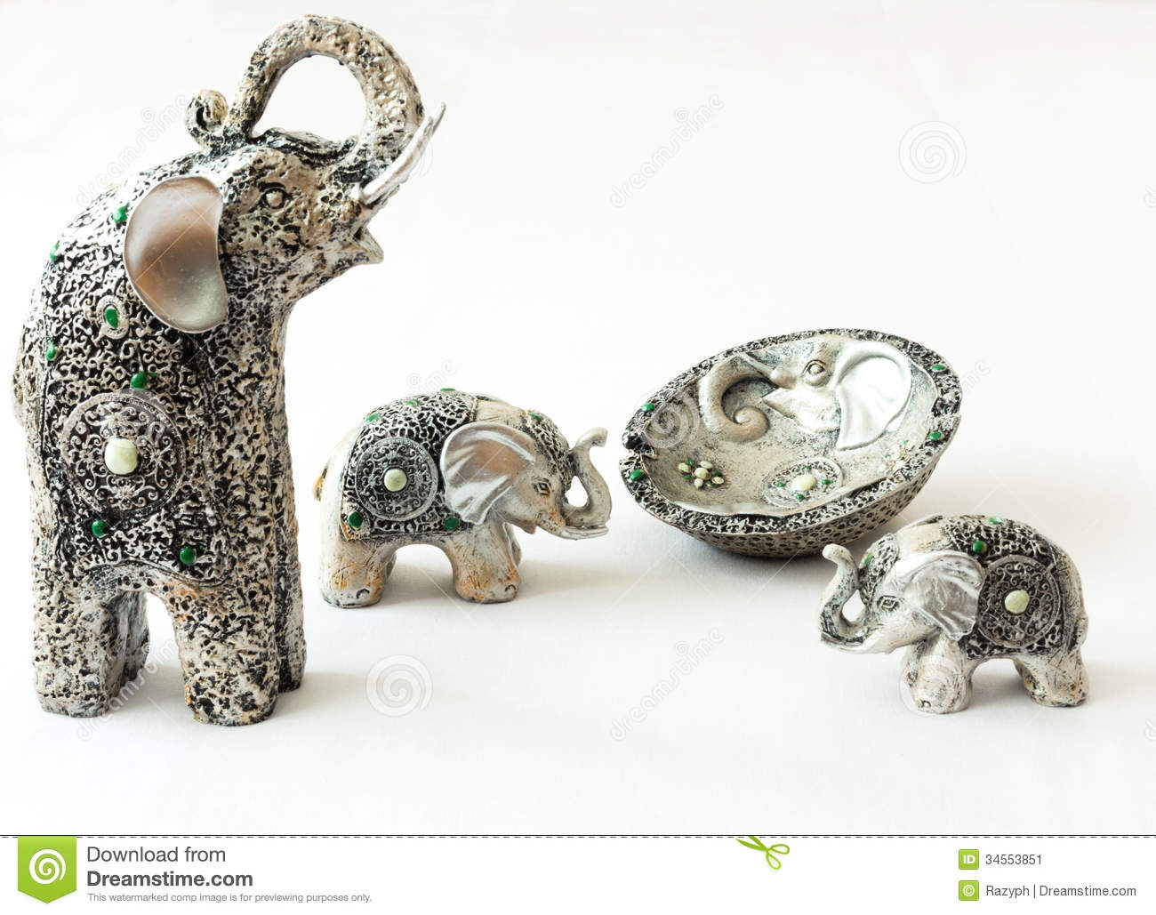 Silver elephant decorations stock image image 34553851 Silver elephant home decor