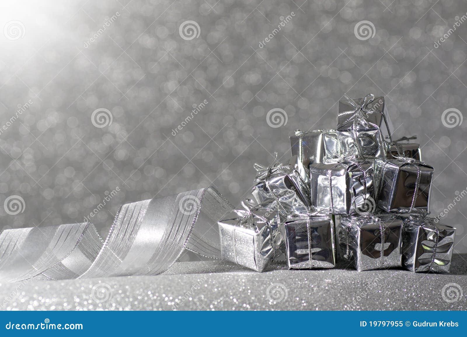 Silver för julgåvaband