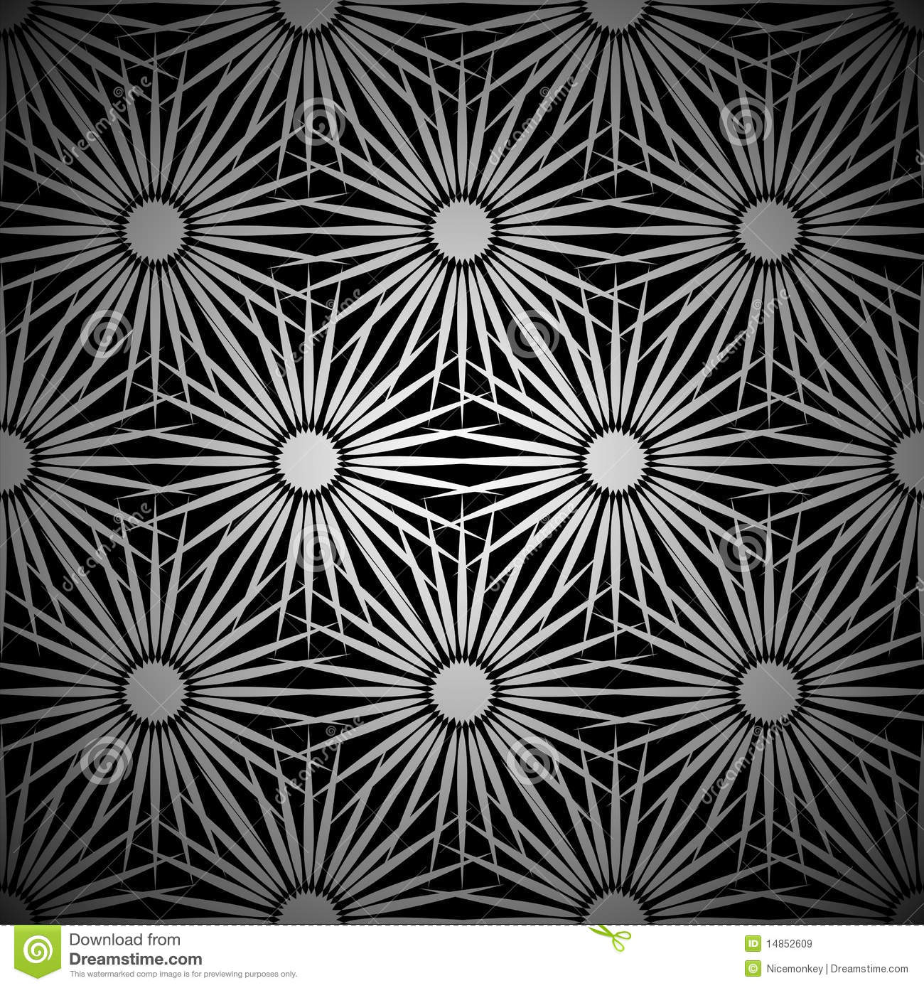 Silver floral explosion background