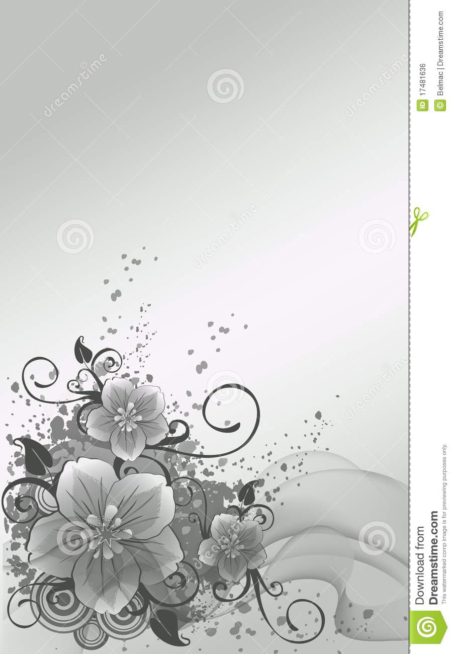 silver flowers stock illustration image of green silver