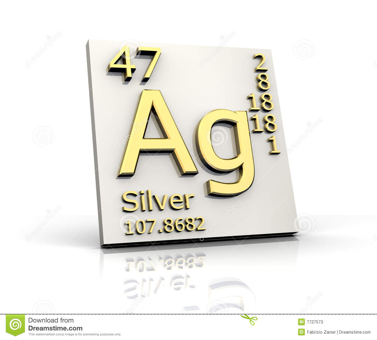 Silver form periodic table of elements stock illustration download comp urtaz