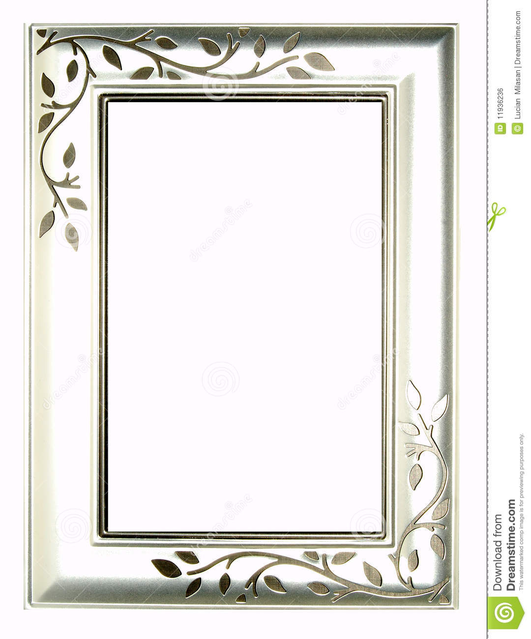 Silver Frame Royalty Free Stock Image - Image: 11936236