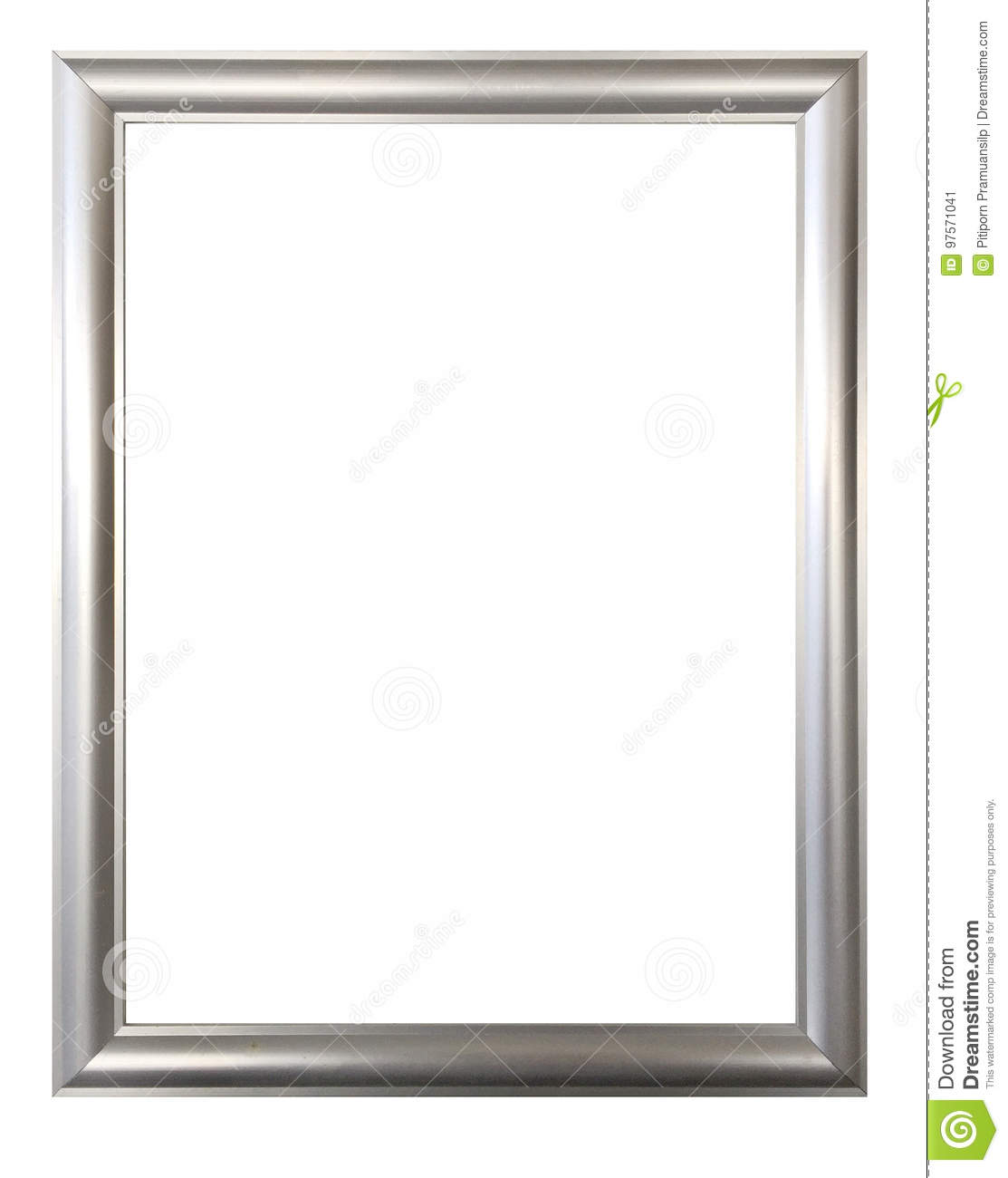 Silver Frame For Paintings Mirrors Or Photos Stock Image Image Of