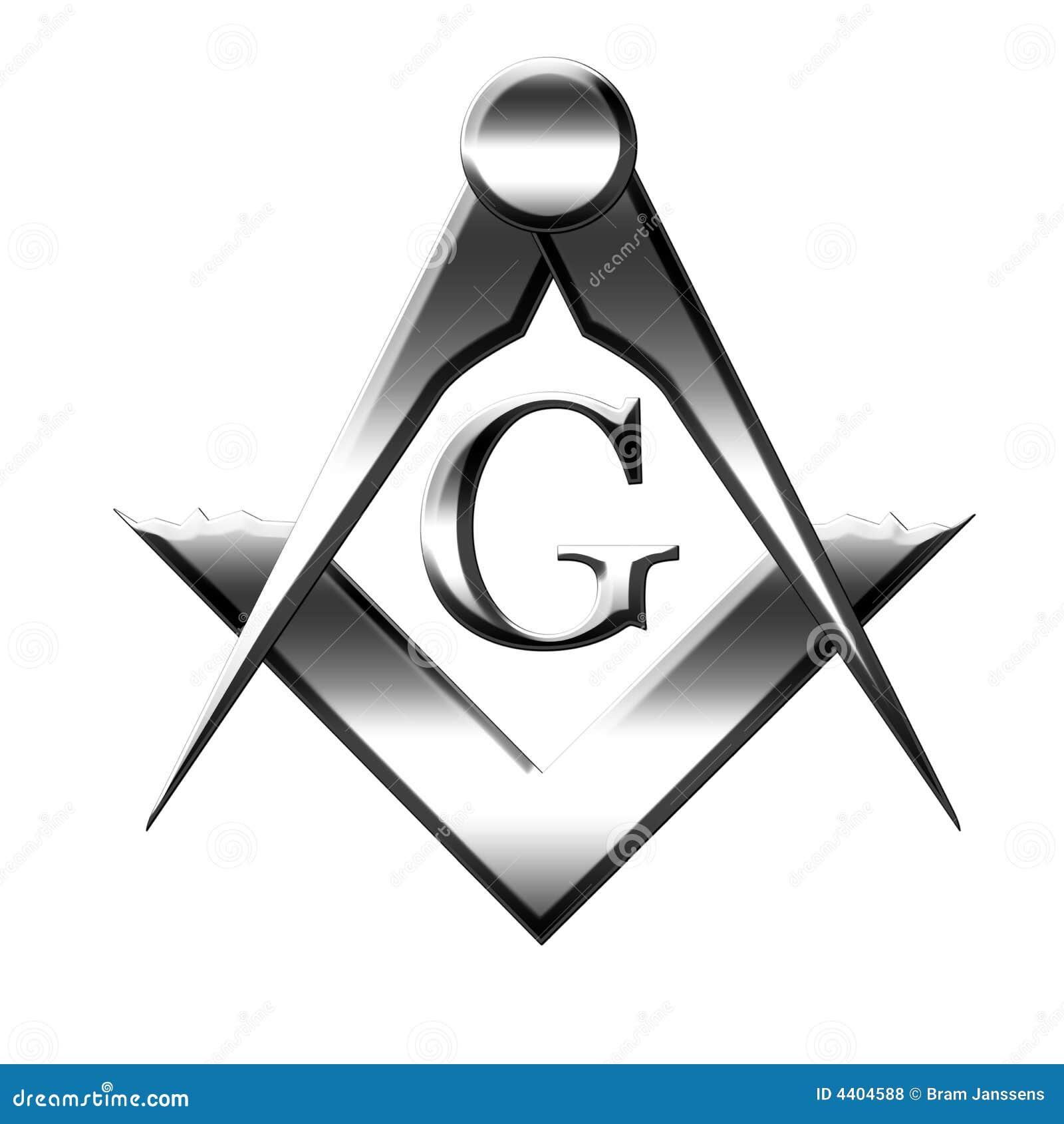 Silver Freemason Symbol Stock Illustration Illustration Of
