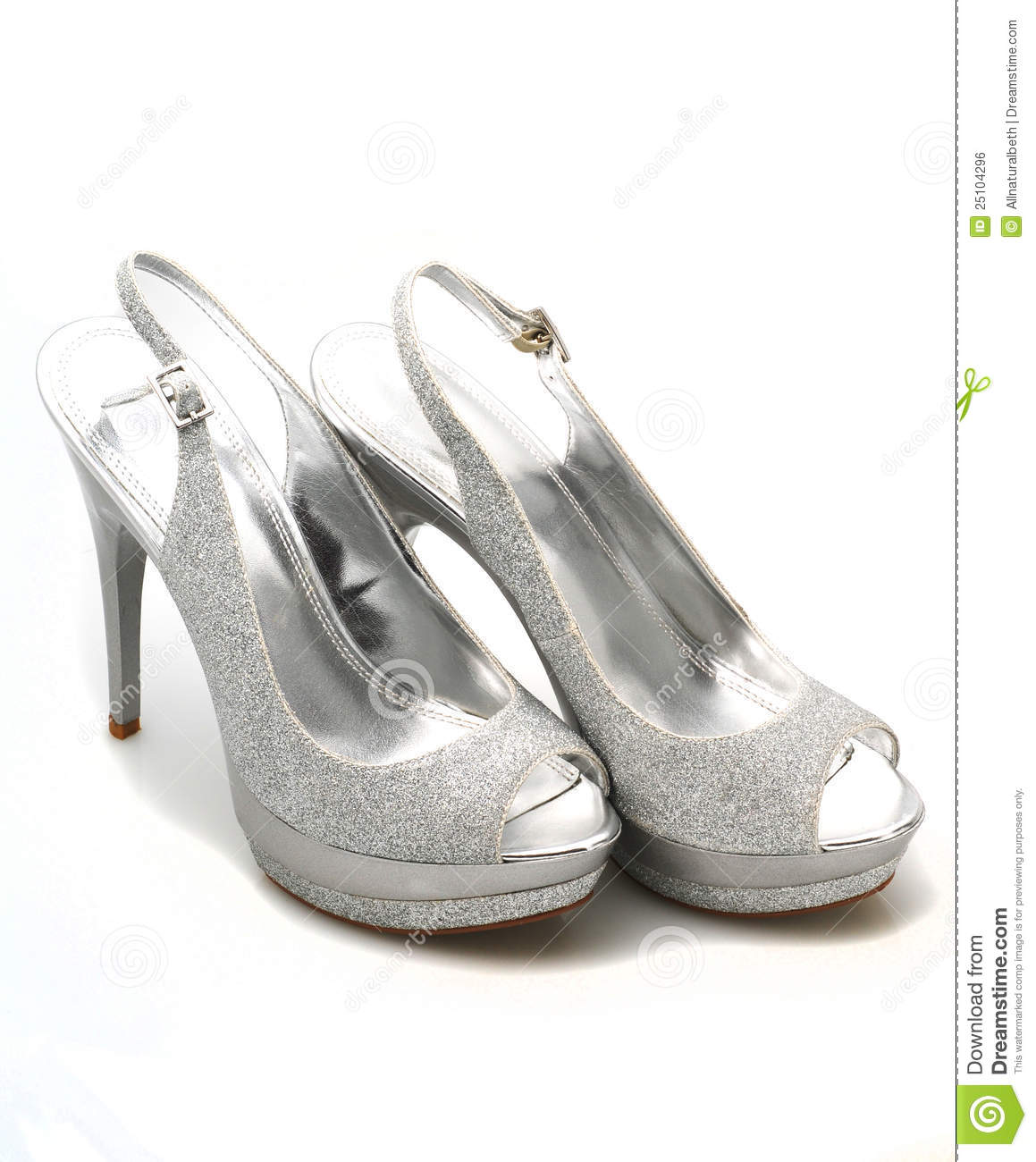 More similar stock images of ` Silver Glitter shoes