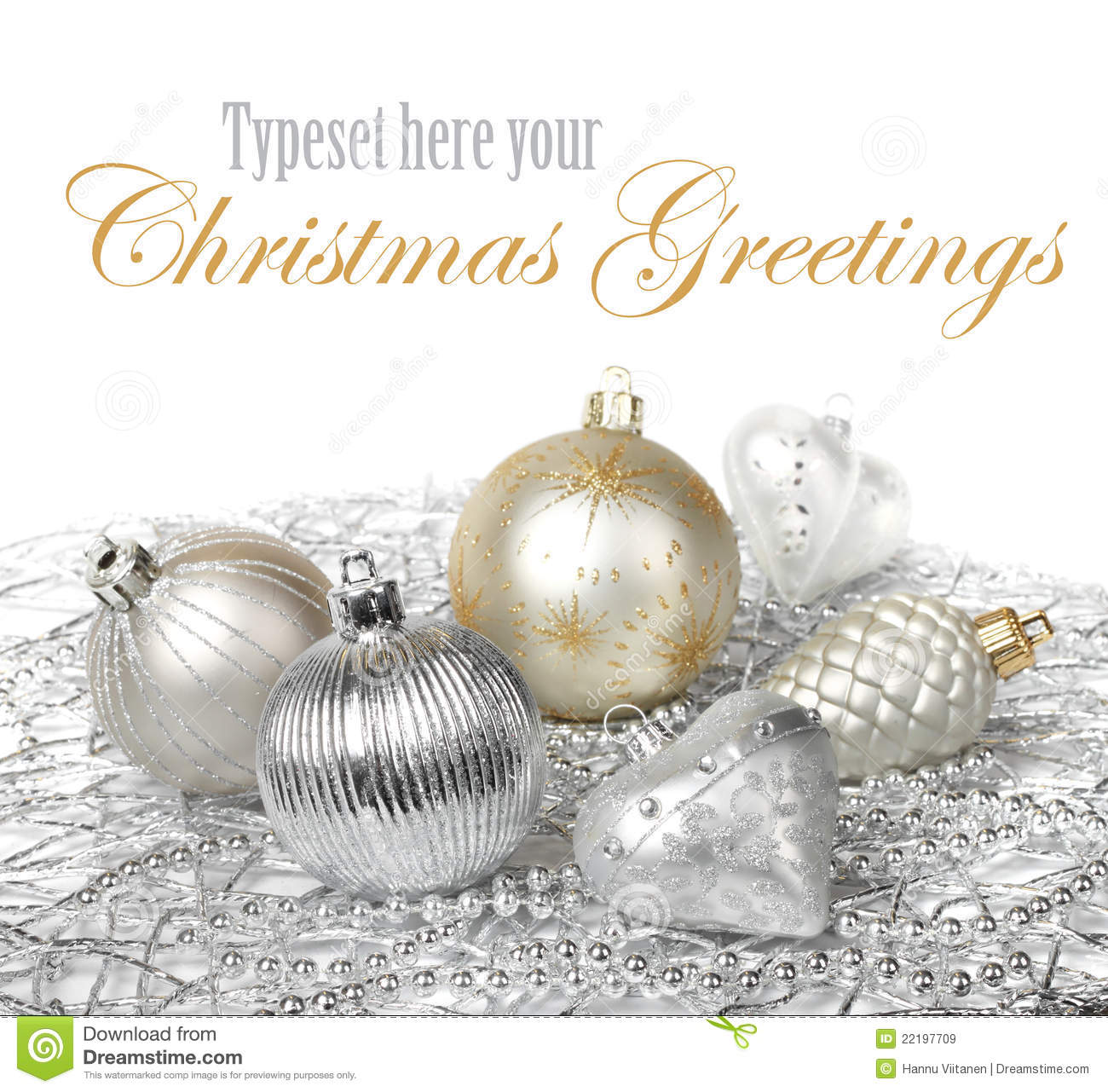Silver Gold Christmas Decoration Stock Image Image 22197709