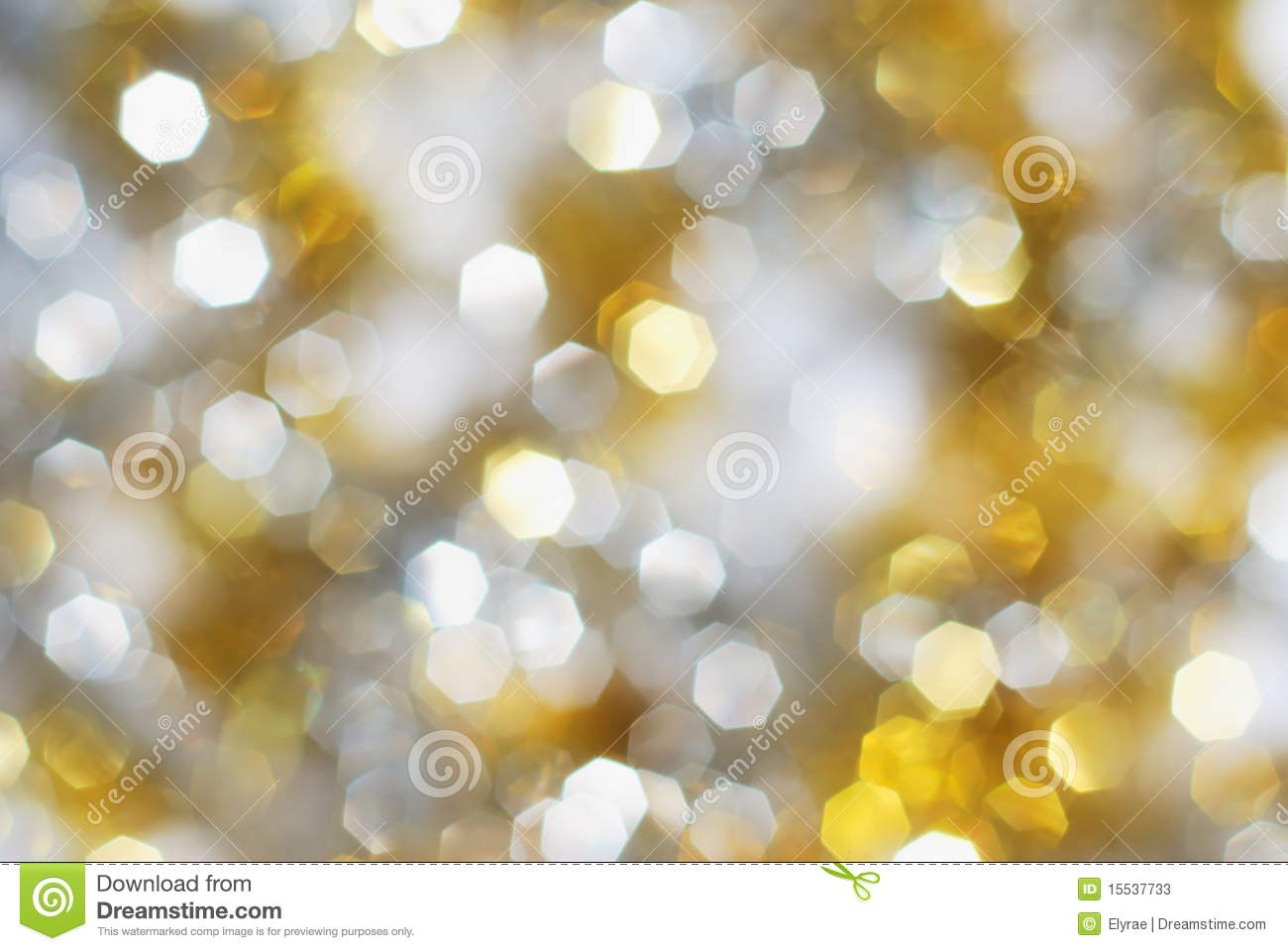 Silver and gold lights background