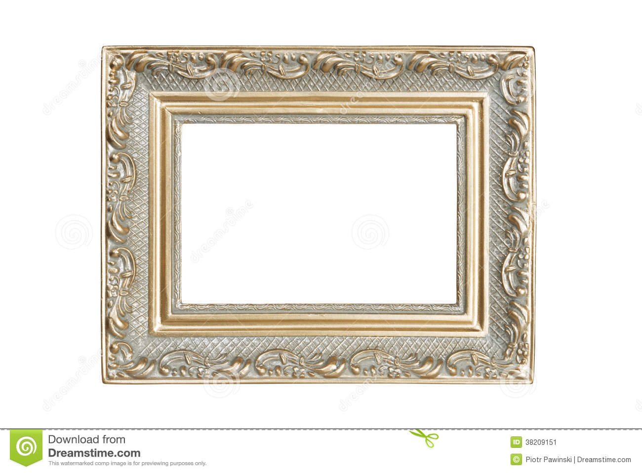 Silver Gold Picture Frame Stock Image Image Of Image