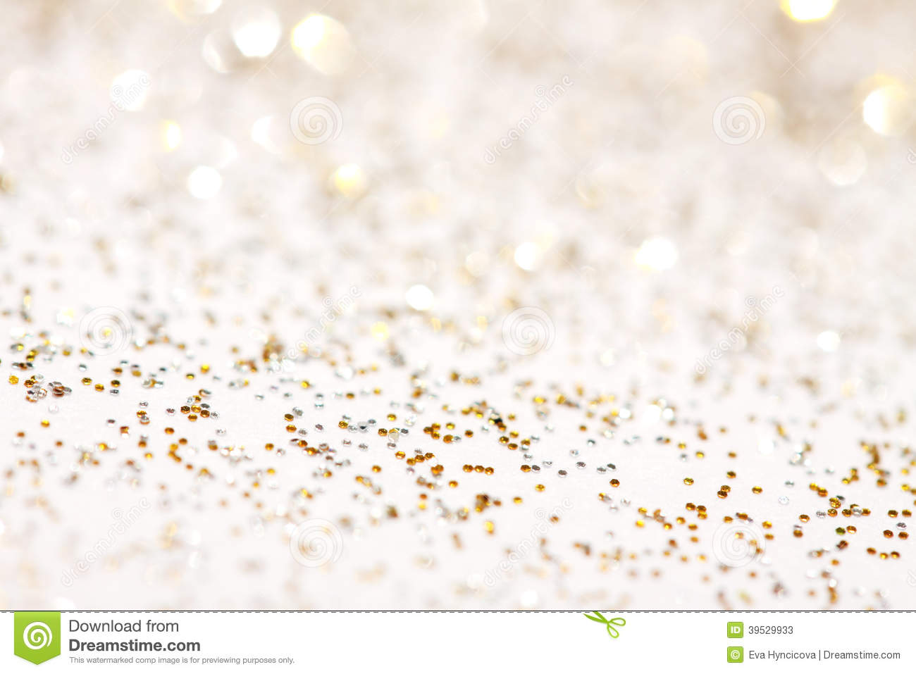 Gold And Silver Sparkles Background