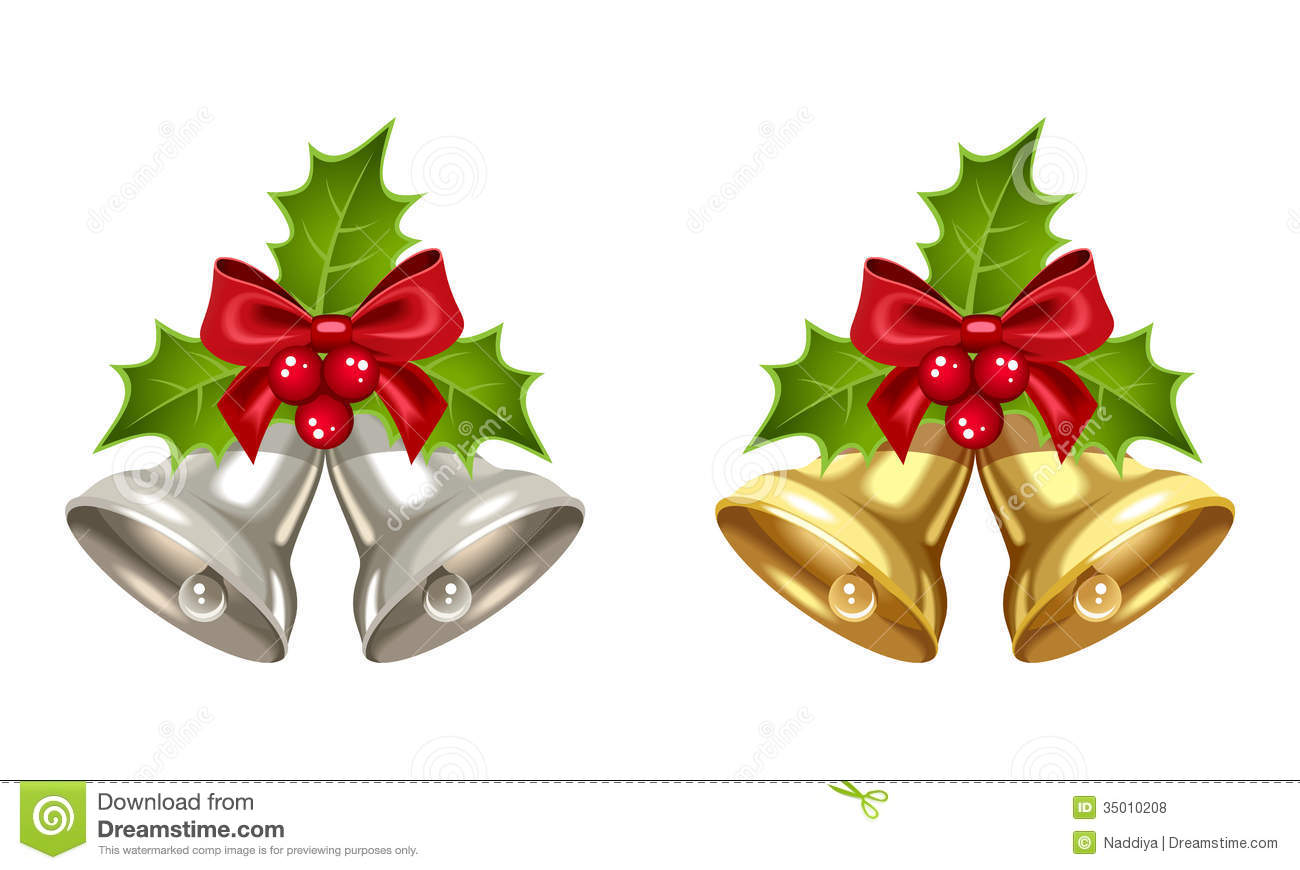 silver and golden christmas bells stock vector jingle bell clip art images jingle bell clip art images