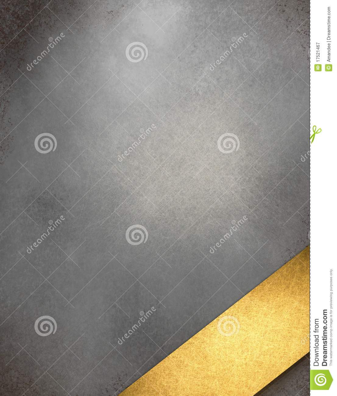 silver gray background with gold title ribbon royalty free