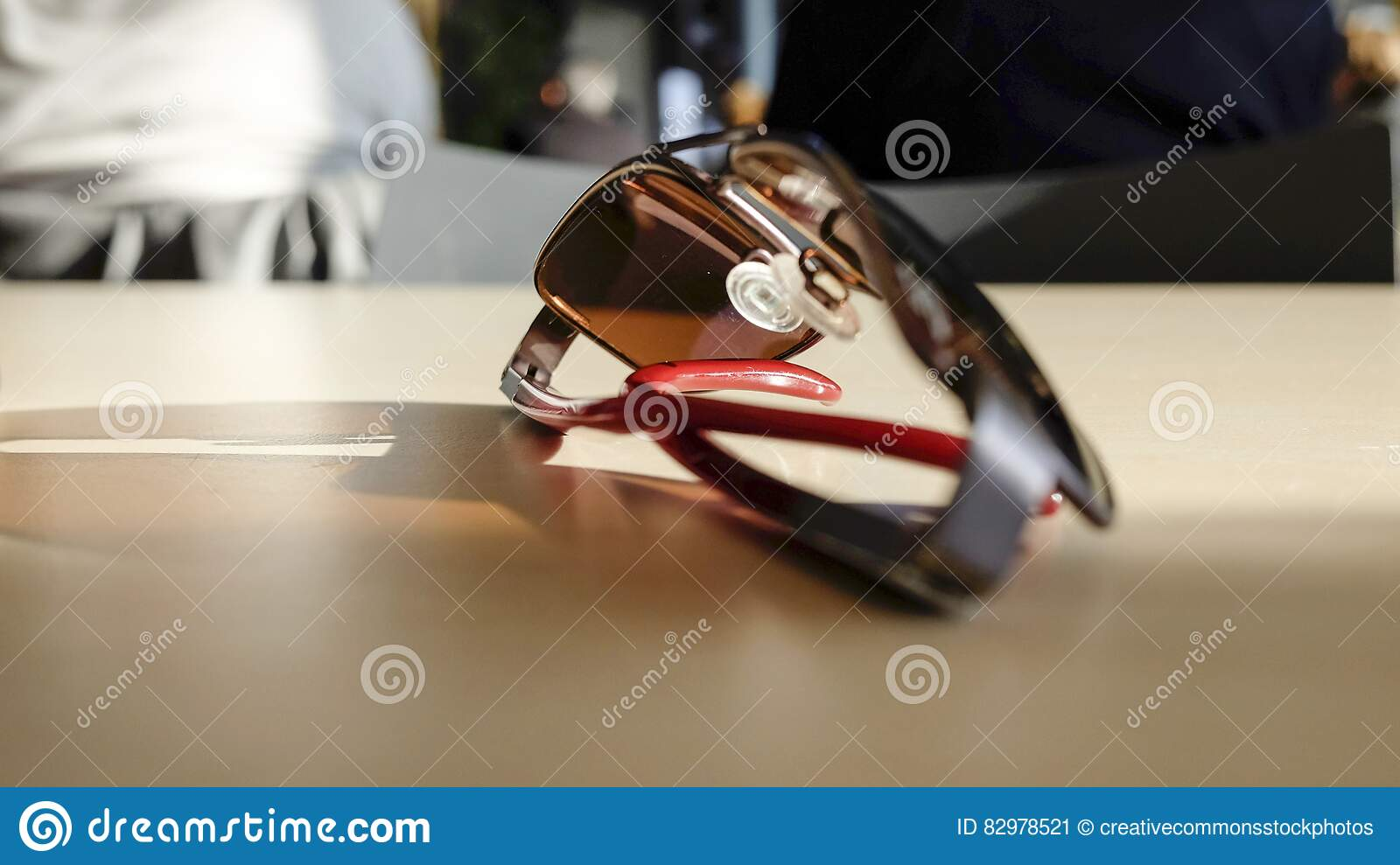 Download Silver And Gray Frame Sunglasses Stock Image - Image of table, sunglasses: 82978521