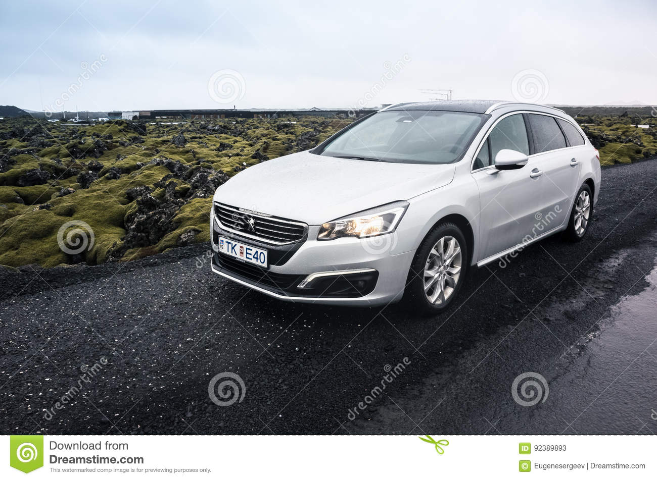 Silver Gray Peugeot 508 Sw Editorial Stock Photo Image Of Peugeot 92389893