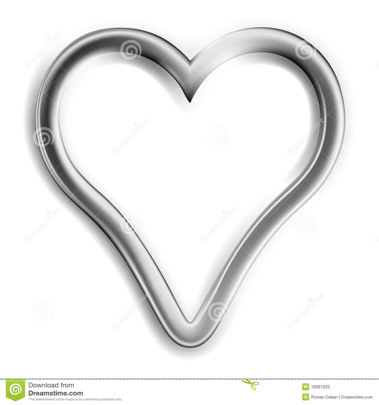 Silver Heart: Silver Heart Stock Photos