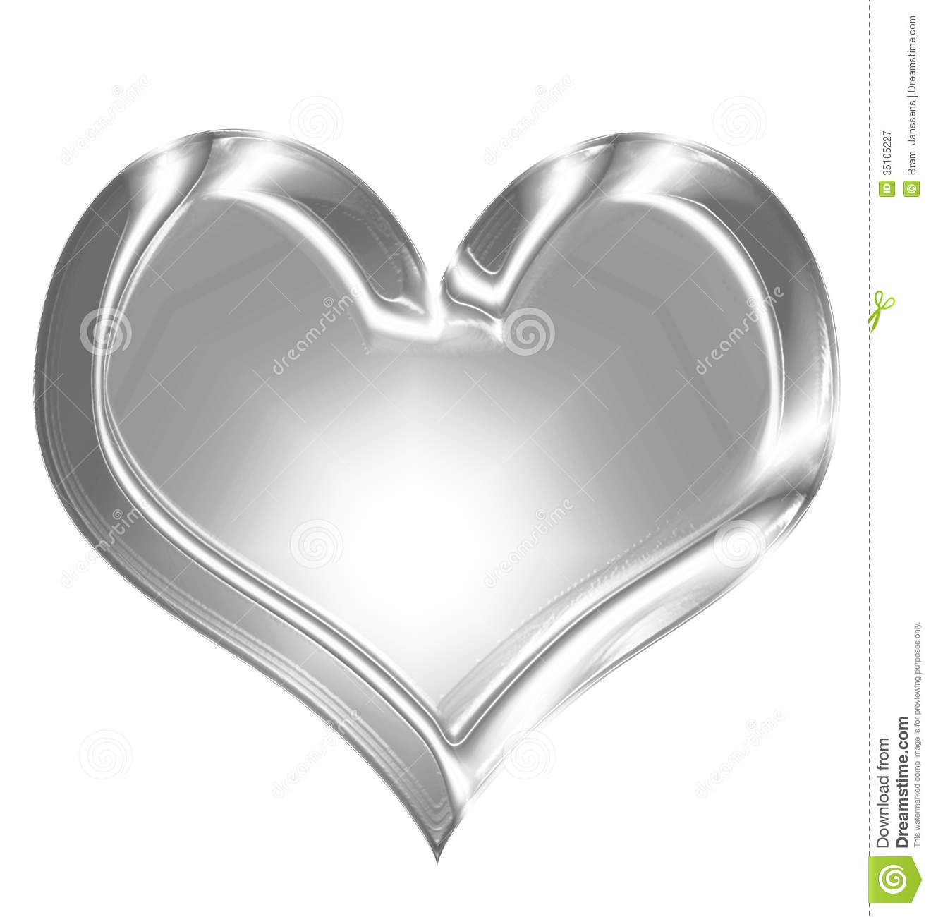 Silver Heart Stock Illustration Image Of Metal