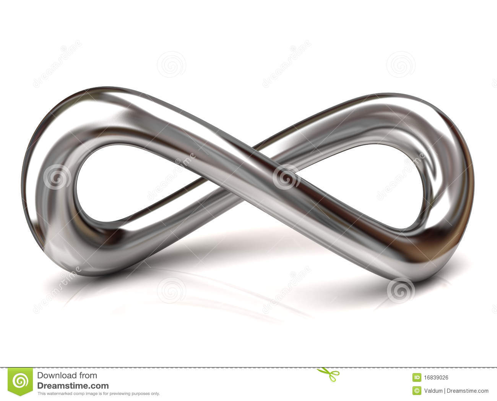 Silver Infinity Symbol Stock Illustration Illustration Of Shiny