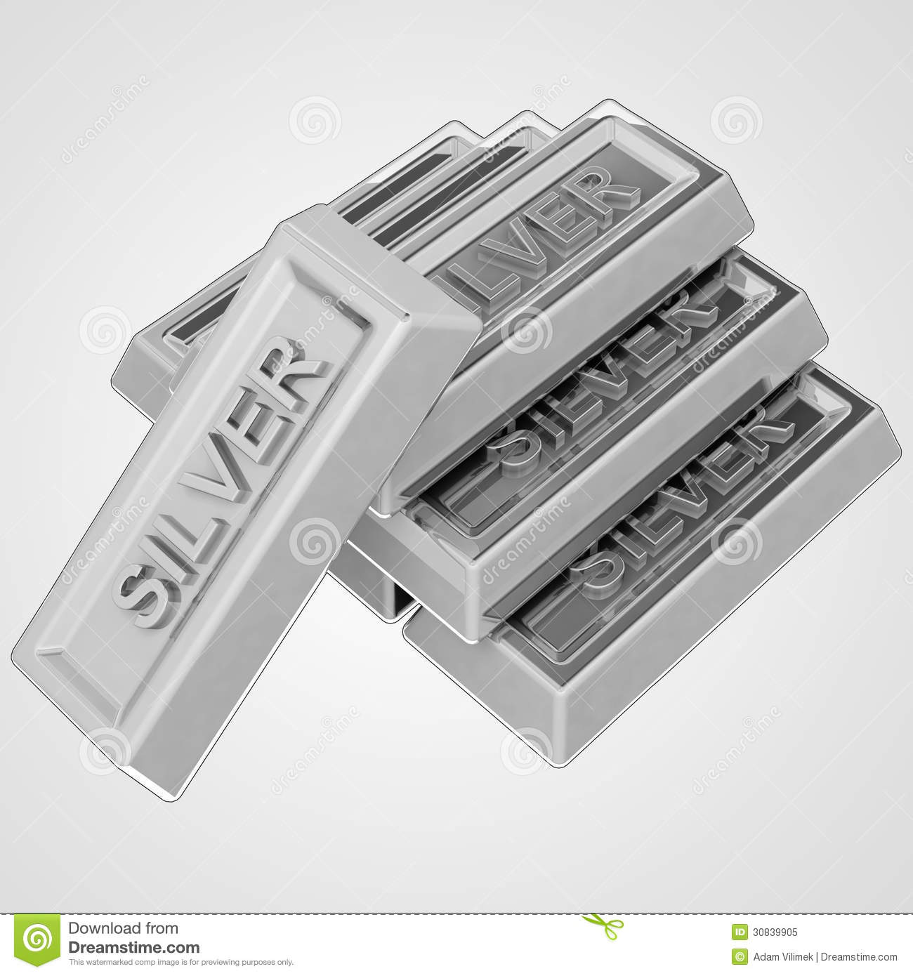 Silver ingot group from pure material royalty free stock photo image