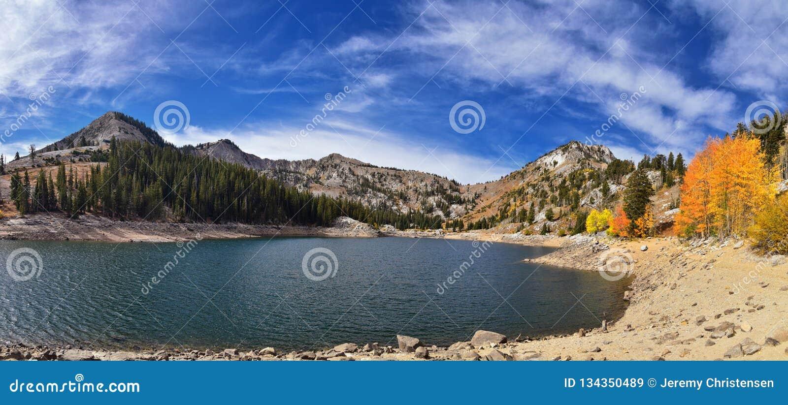 Silver Lake par la station de vacances de solitude et de Brighton Ski en grand canyon de peuplier Vues panoramiques des traînées