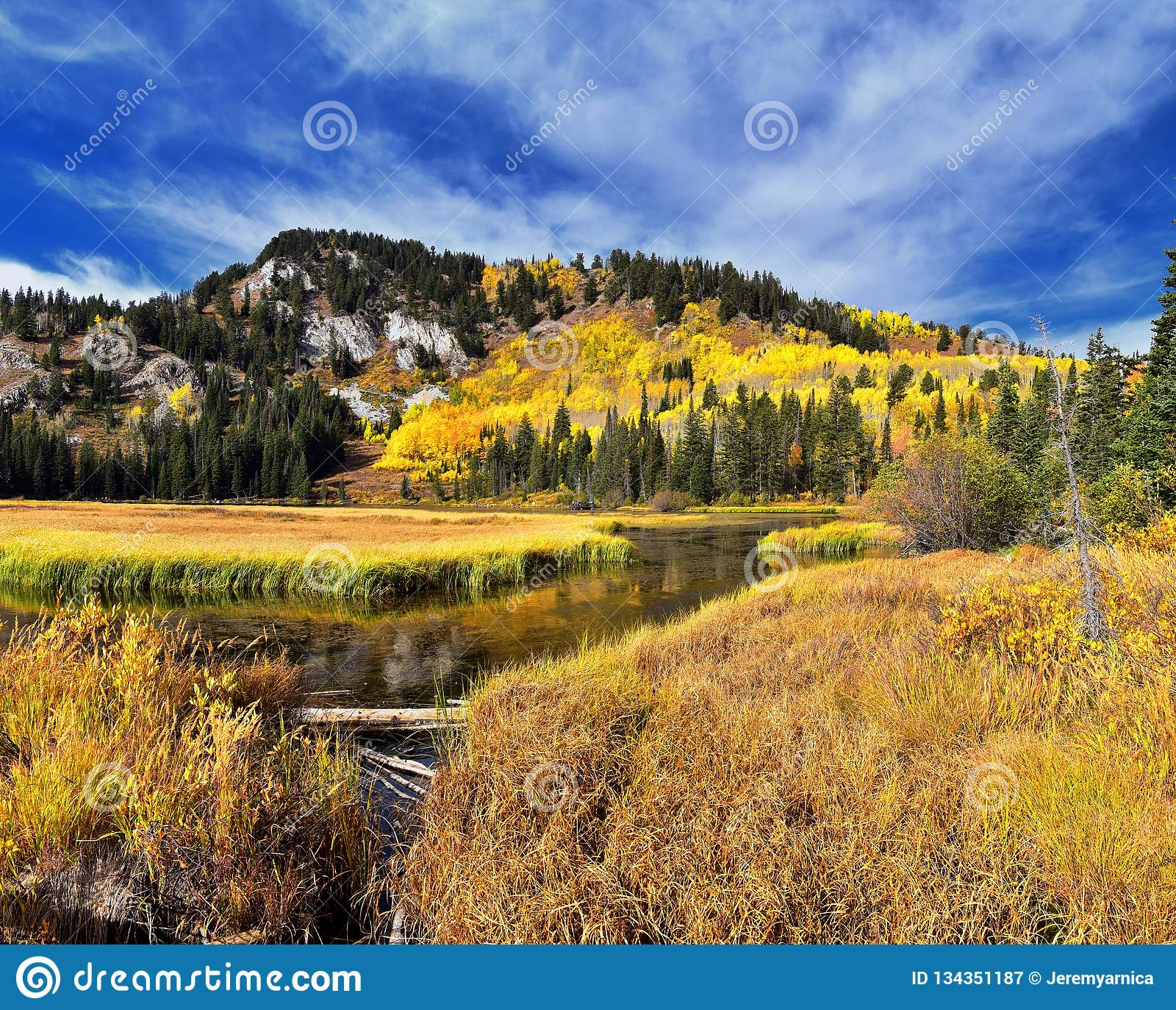 silver lake by solitude and brighton ski resort in big cottonwood