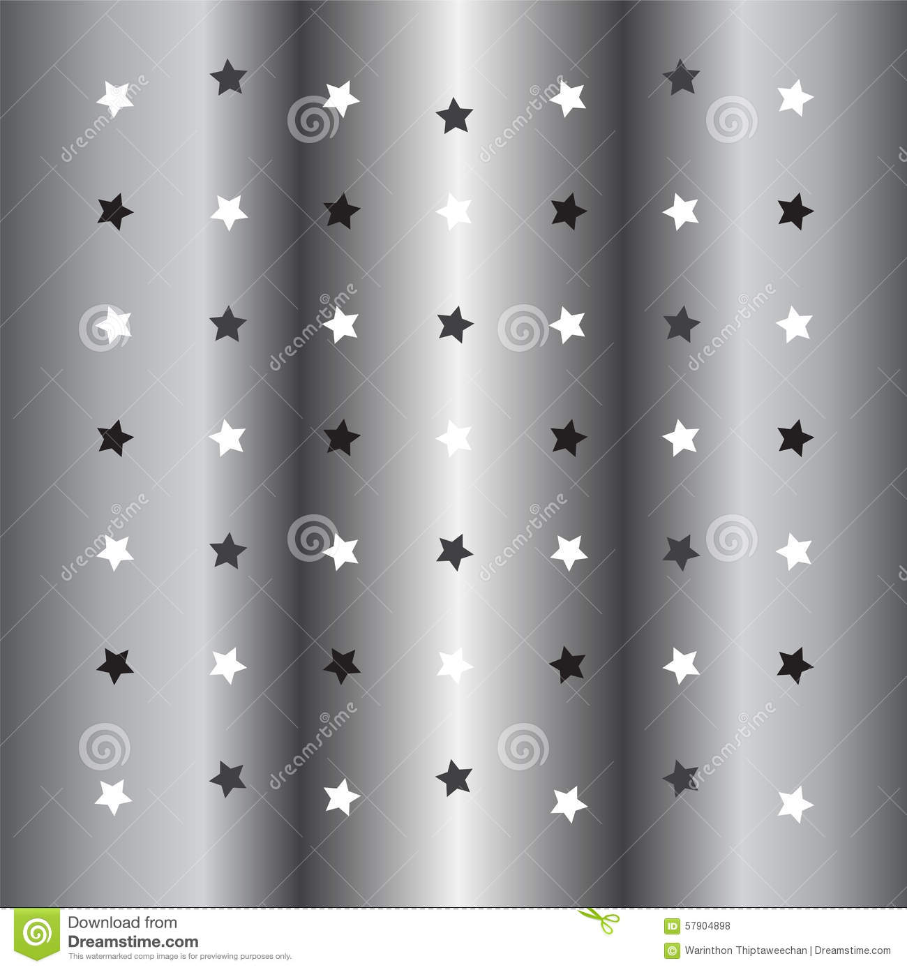 Silver Little Star Background Stock Vector