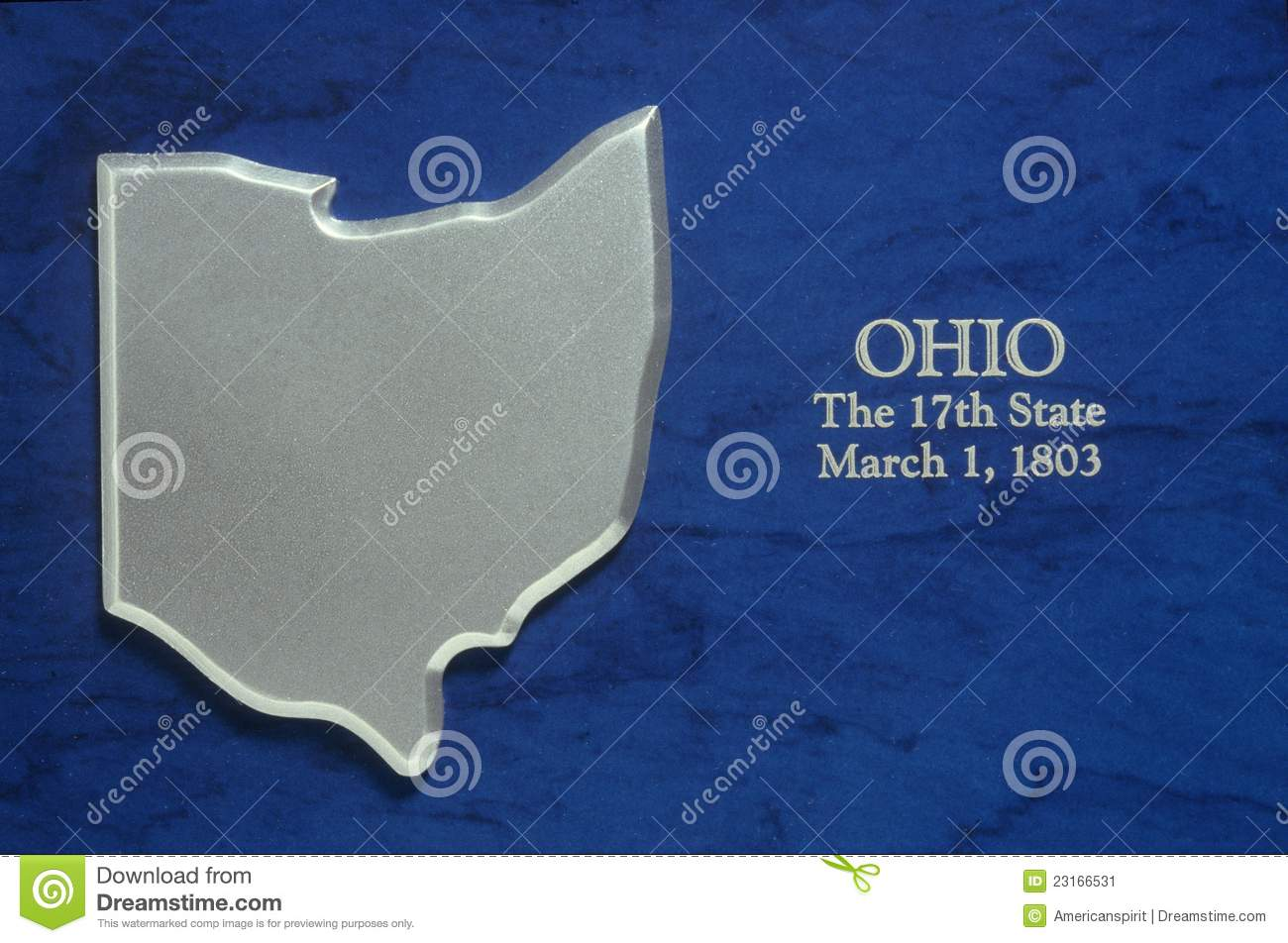 Silver Map of Ohio