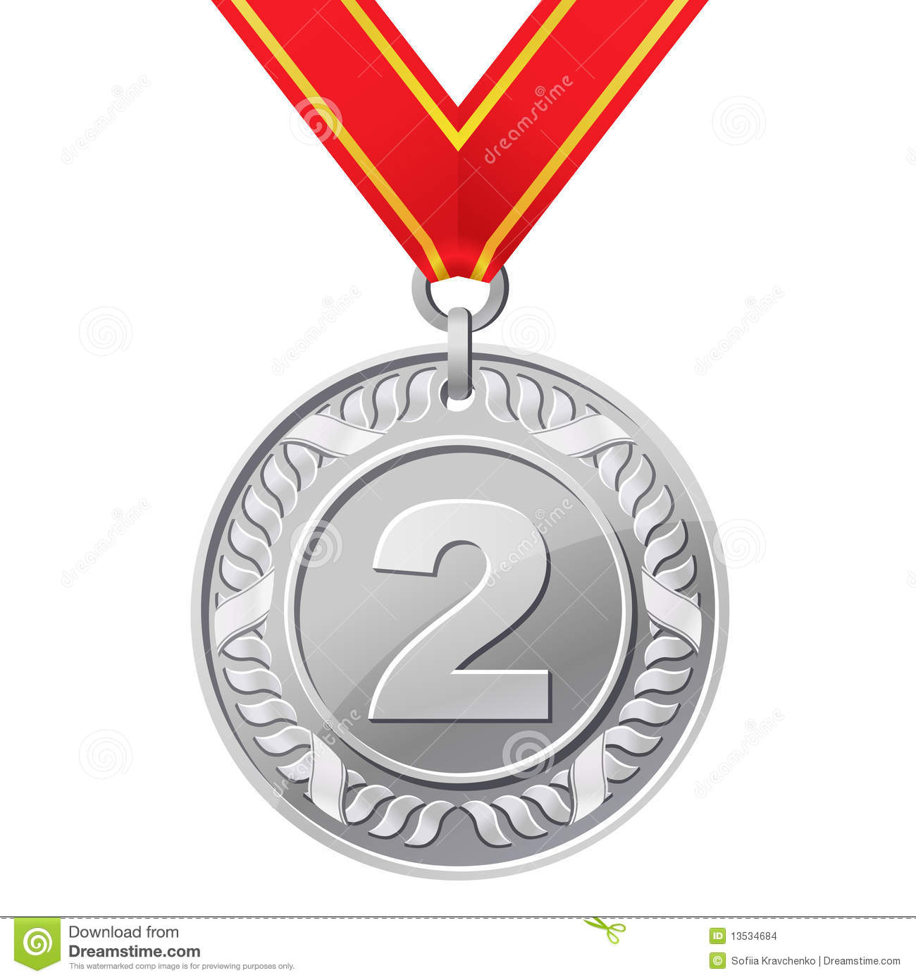 Silver Medal Stock Images - Image: 13534684