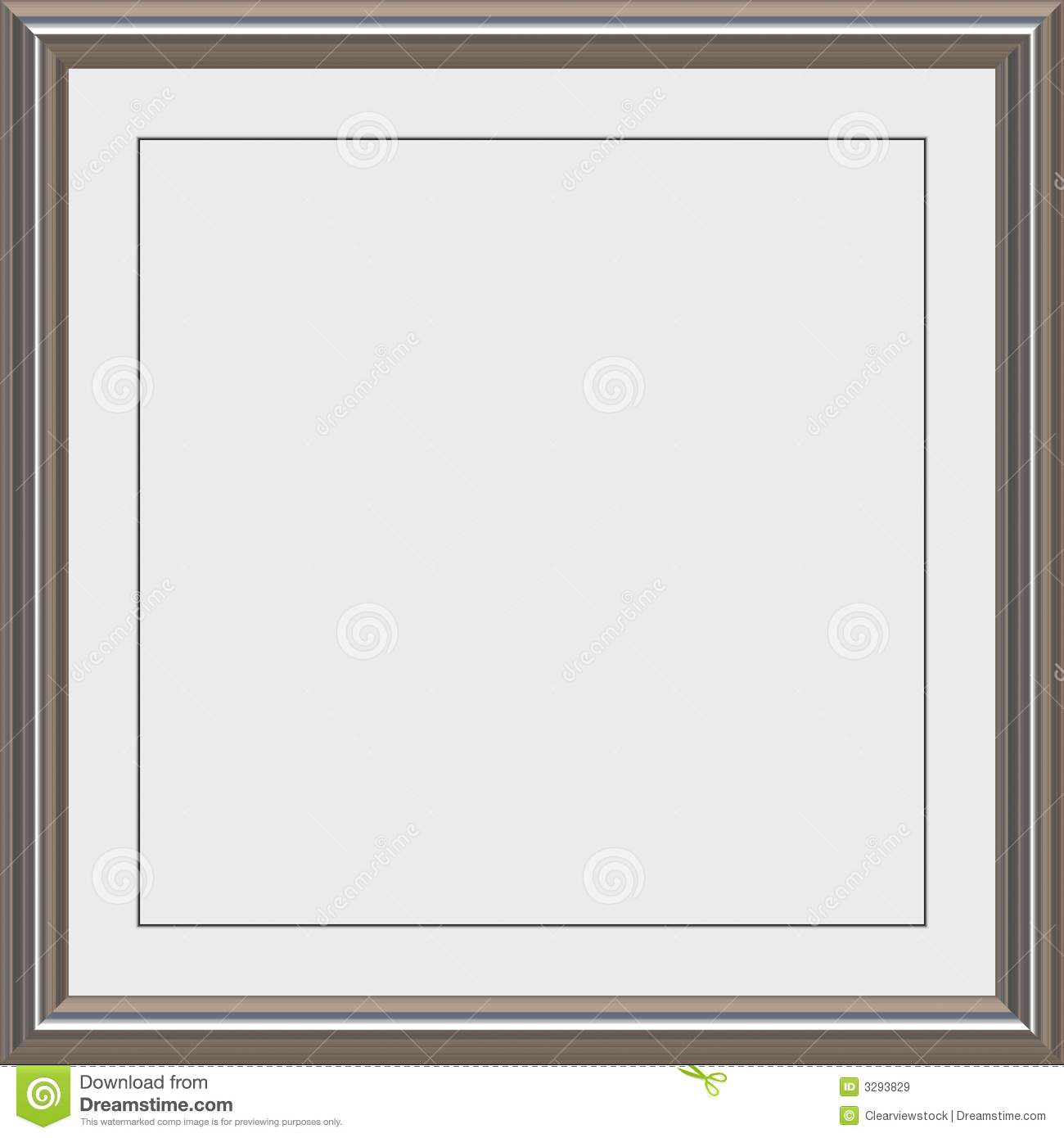 Silver Metal Award Frame Royalty Free Stock Images Image