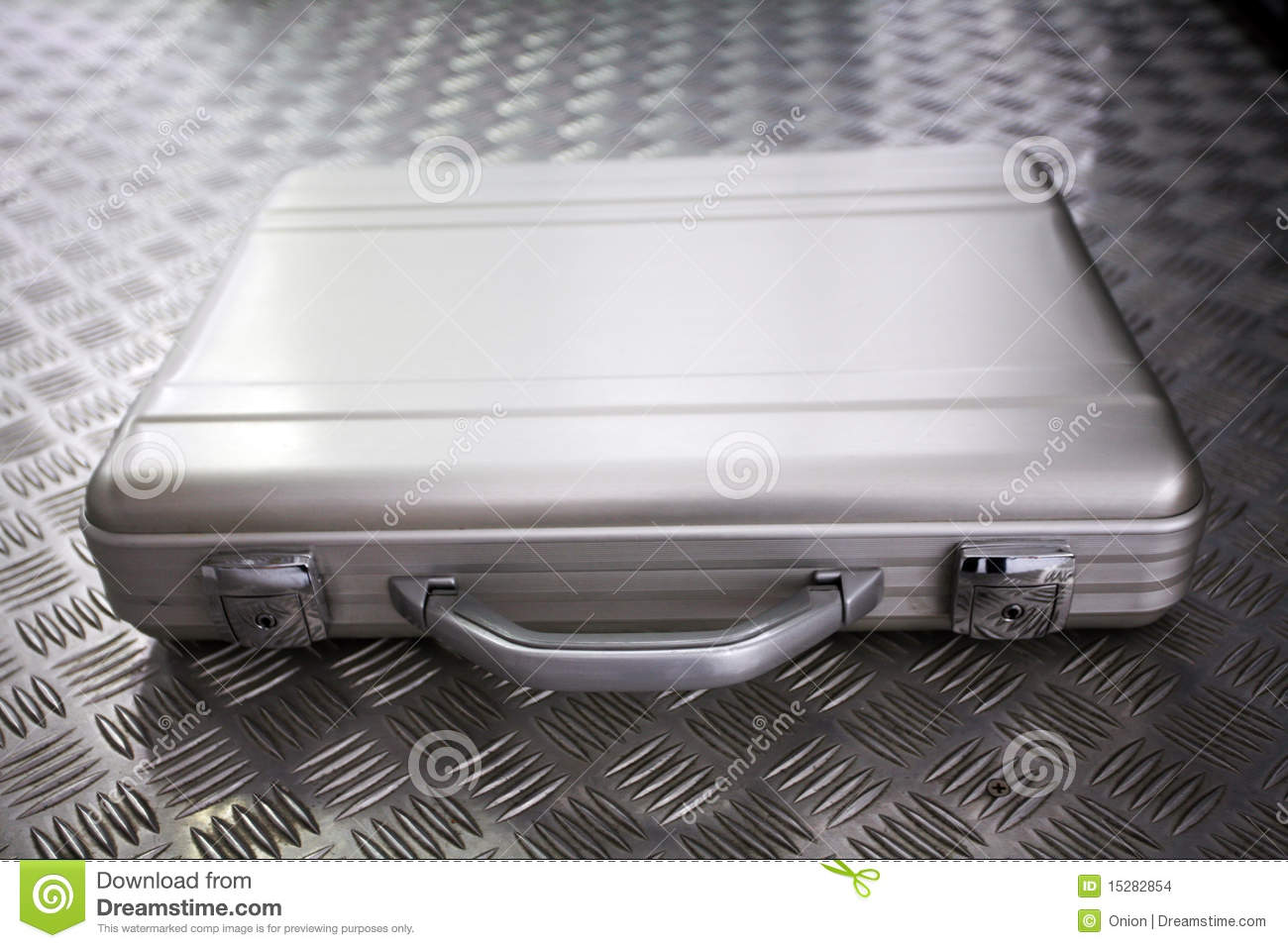Silver Metal Briefcase Stock Images Image 15282854