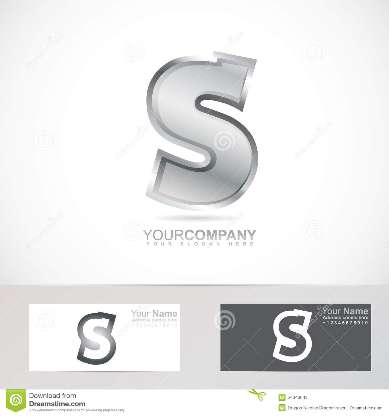 Silver metal letter s logo stock vector illustration of logo silver metal letter s logo buycottarizona