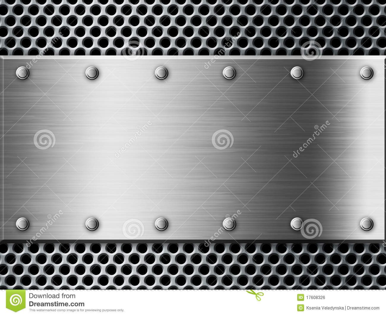 Silver Metal Plate Background Stock Illustration Image