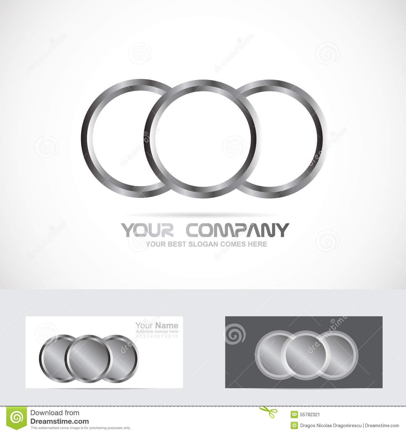 circle photo orbit web flow vector logo abstract design rin rings technology ring template round stock