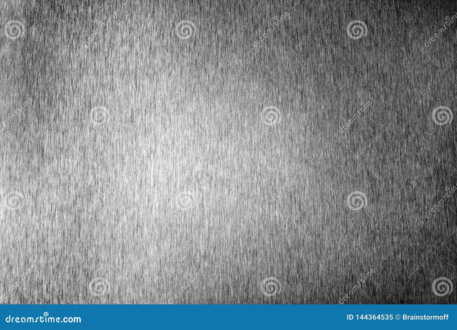 Silver metal shiny empty surface, monochrome shining metallic background, brushed black and white iron sheet backdrop close up