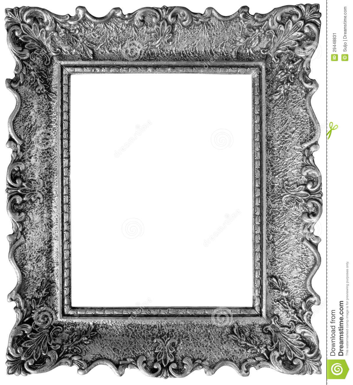 Silver Mirror Frame Cutout Stock Image Image Of
